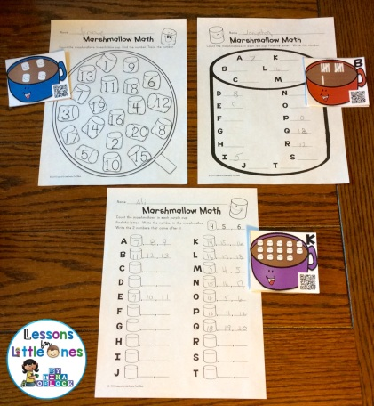 color coded differentiated number sense math cards