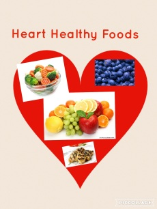 heart healthy foods with Pic Collage