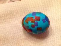 confetti colored Easter eggs