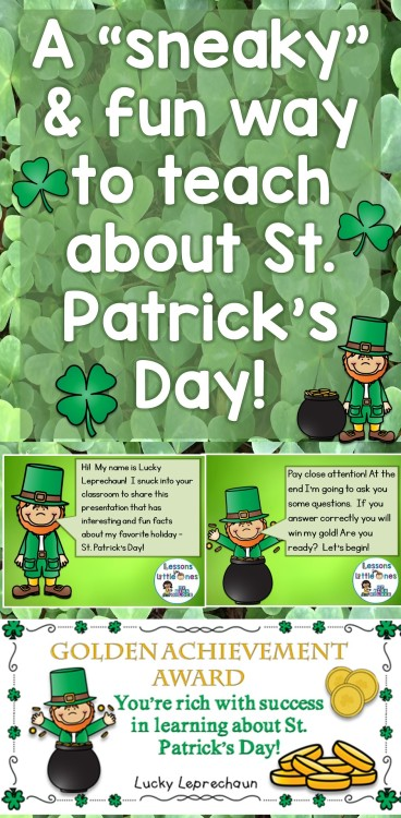 "A ""sneaky"" and fun way to teach about St. Patrick's Day!"