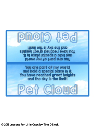 Pet Cloud student tags and poem