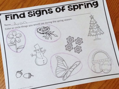 find the signs of spring