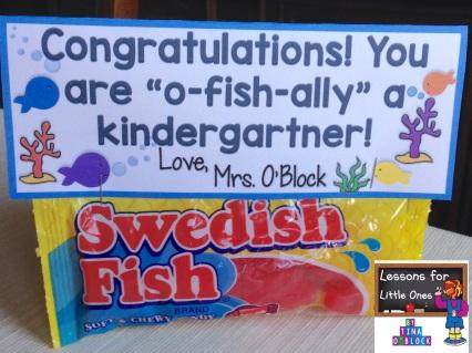 fish graduation gifts & student tags