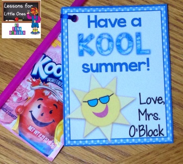Kool-Aid end of the school year gift tags