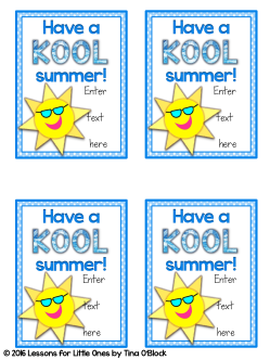 Kool-Aid end of the year student gift tags