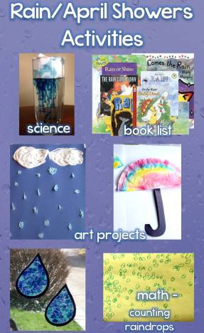 Rain / April Showers Science, Art, Math Activities & Book List