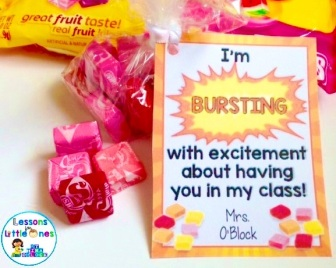 back to school open house student gift starburst