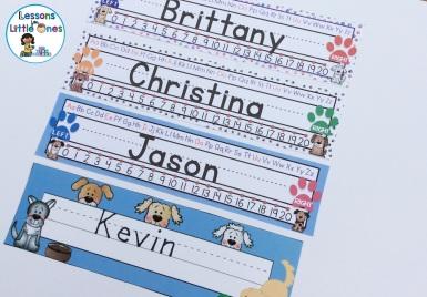 desk nameplates dog theme