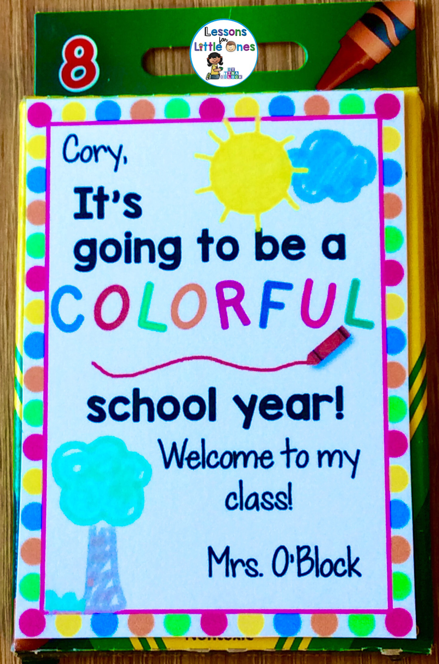Back to School, Open House, Meet the Teacher Student Gift ...