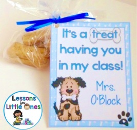 back to school student gift tag - dog