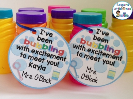 I've been bubbling with excitement to meet you bubble student gift tag