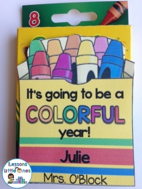 It's Going to Be a Colorful Year Crayons Student Gift Tag