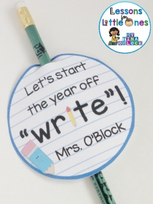 back to school student gift tags for a pencil