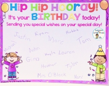 student birthday certificate editable from class Hip Hip Hooray! It's your birthday today!
