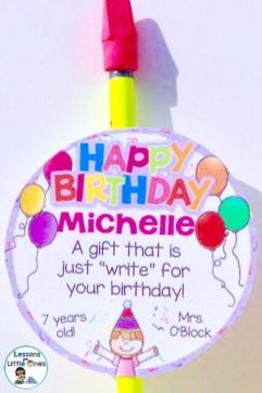 students birthday gift idea - pencil