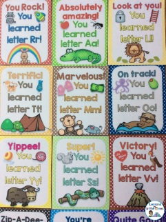 brag tags for each letter of the alphabet