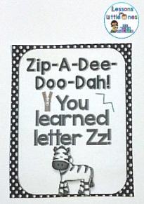 Alphabet letter brag tag reward