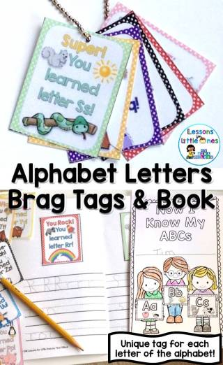 Brag Tags & Brag Tag Book for the Letters of the Alphabet
