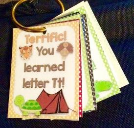 alphabet letters brag tags on binder ring