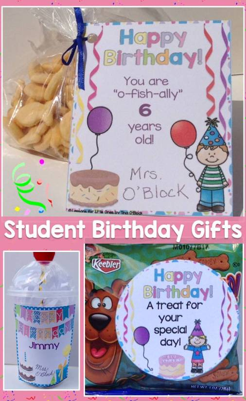 Student birthday gift ideas, tags