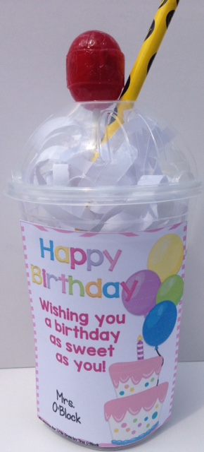 student birthday gifts - sundae