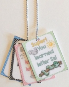 alphabet brag tags necklace