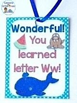 alphabet letter reward, brag tag