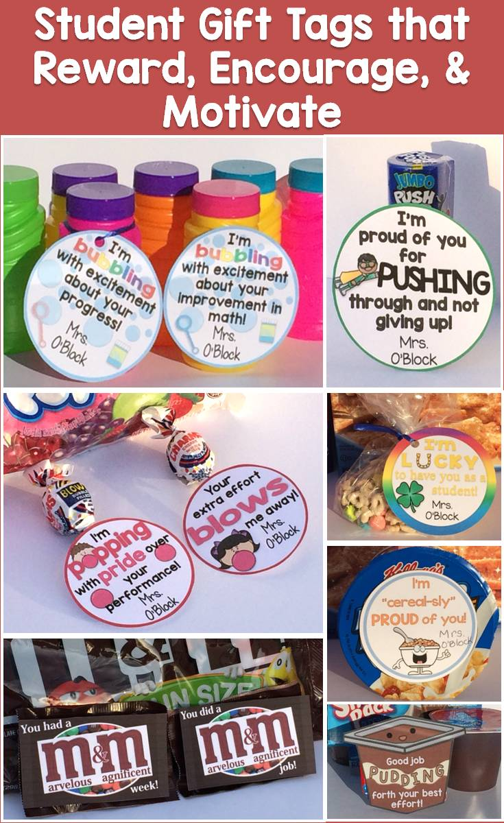 Classroom Motivation Ideas ~ Student birthday gift ideas tags certificates brag
