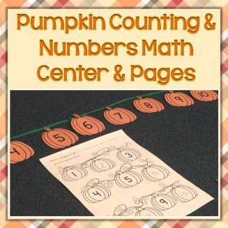 pumpkin counting math center
