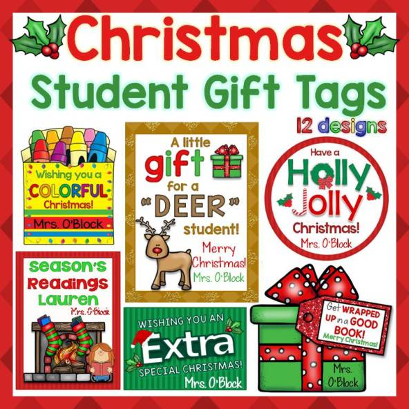 Christmas gift tags   Lessons for Little Ones by Tina O'Block