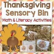 Thanksgiving Sensory Bin Math & Literacy Activities