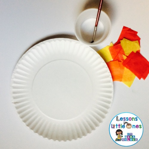 Thanksgiving craft materials for 5 kernels of corn legend