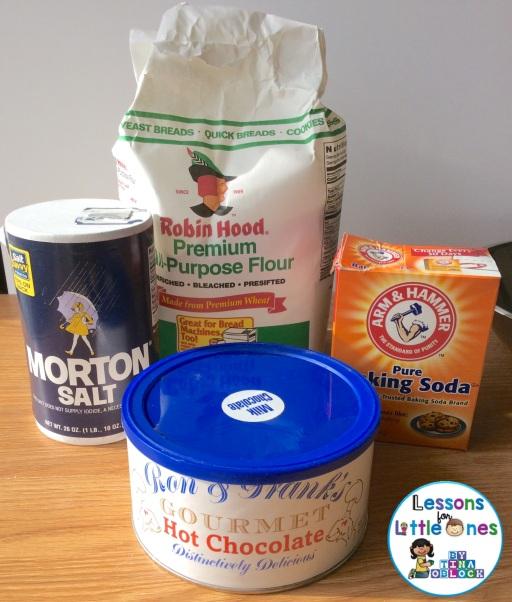 hot chocolate playdough recipe ingredients