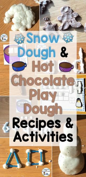 Snow Dough & Hot Chocolate Play Dough Recipes and Activities