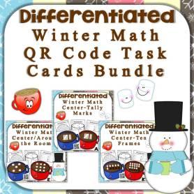 hot chocolate QR code math center bundle