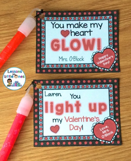 Valentine's Day student gifts - glow sticks