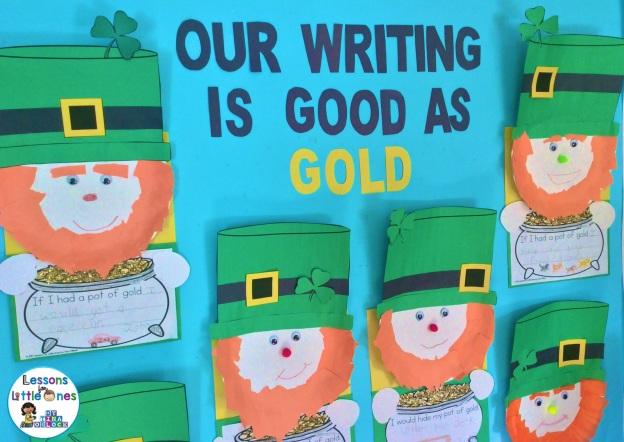 St. Patrick's Day leprechaun writing craftivity