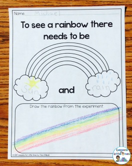 St. Patrick's Day rainbow science experiment printable page