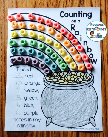 St. Patrick's Day Rainbow Counting Math Activity