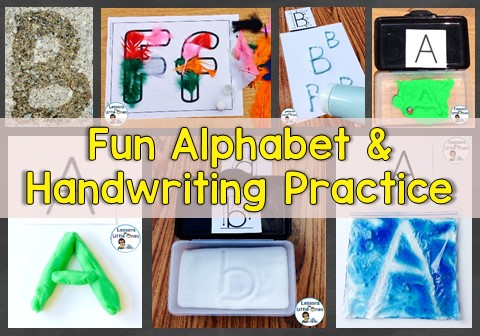 Fun Ideas for Alphabet & Handwriting Practice
