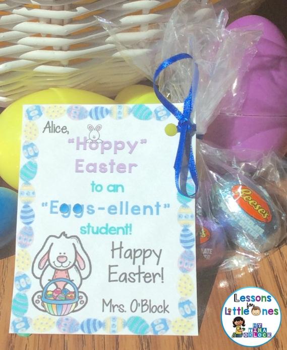 Easter student gift tag - Hoppy Easter