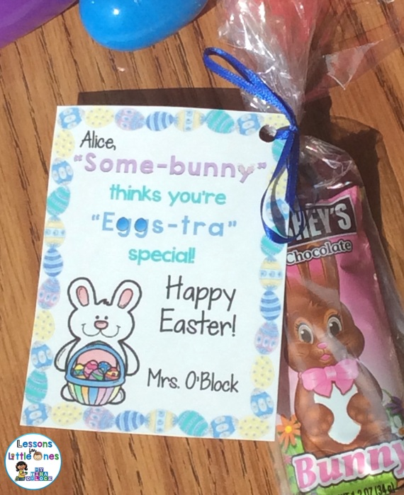 Easter student gift tag