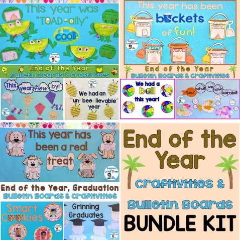 End of the Year Craftivities & Bulletin Boards Bundle