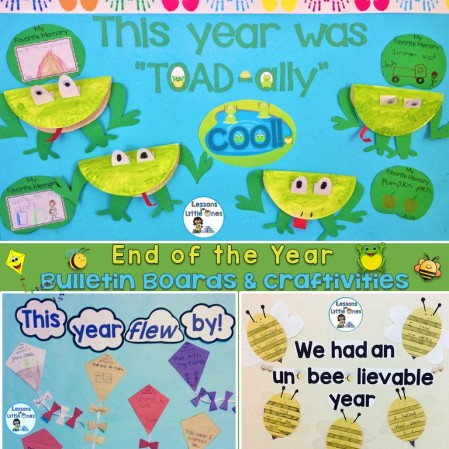 end of the year bulletin boards and craftivities