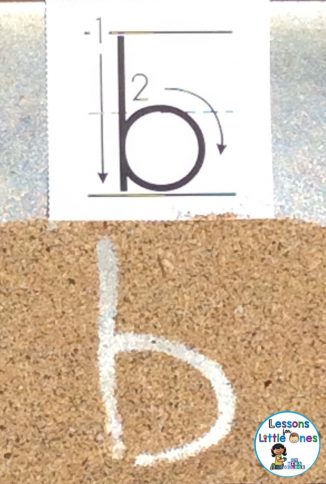 sand tray for alphabet letter writing