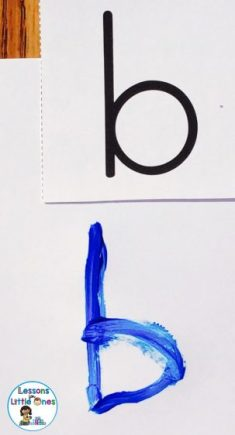 paint letters of the alphabet