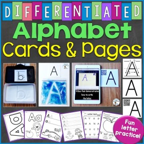 Differentiated Alphabet Letter Pages and Cards