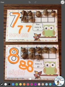 drawing numbers in Pic Collage