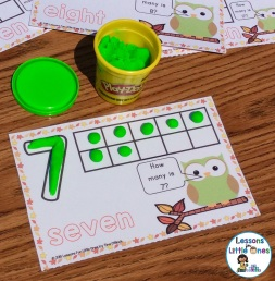 number play dough mat