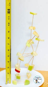 apple tower STEM challenge measurement